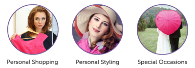 Services: personal  shopping, personal styling, special occasions